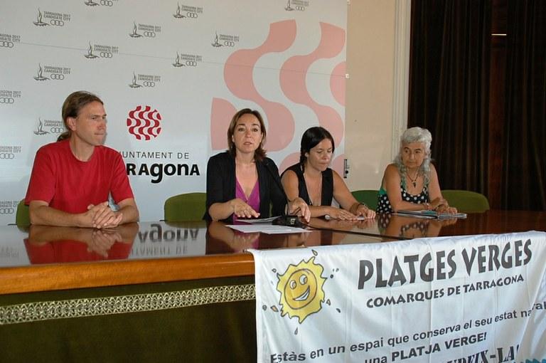 """Tres platges de Tarragona reben el guardó """"platges verges del litoral de Tarragona"""""""