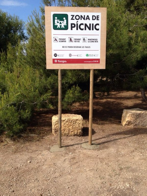 Avui s'ha inaugurat una nova àrea de pícnic a la Platja Llarga