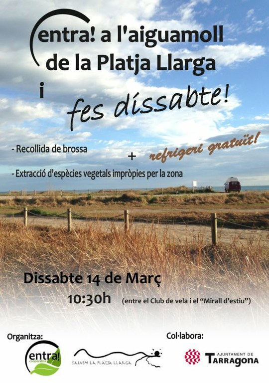 """Jornada """"Fes dissabte"""" a la platja Llarga de Tarragona"""