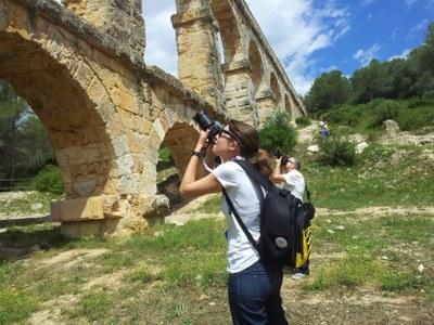Alumnes d'arquitectura de la Politècnica visiten el Parc Ecohistòric del Pont del Diable