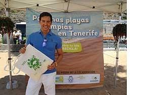 David Meca participa a la campanya Paisaje Limpio a la Llarga