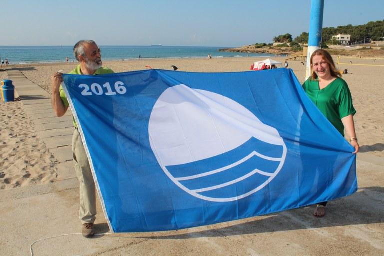 Tarragona revalida les banderes blaves a les platges de l'Arrabassada, Savinosa, la Móra i Tamarit