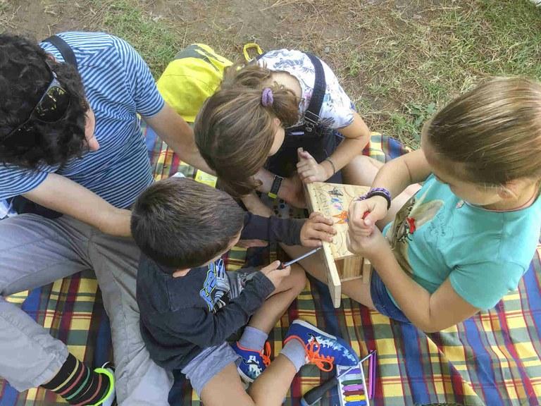 Taller de caixes refugi per a ratpenats al Camp de Mart