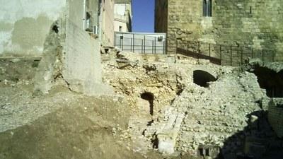 Fonamentació de l'escalinata que conduïa a la plataforma superior del Circ.