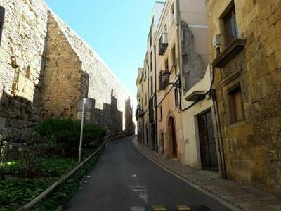 La Comissió de la Presidència proposa la restauració de la muralla en el tram de la Baixada del Roser