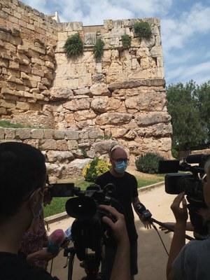 Finalitza la intervenció d'urgència a la Torre de Minerva