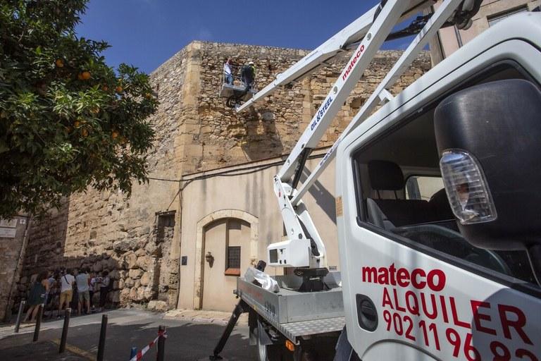 Finalitzen els treballs d'inspecció i manteniment de la Muralla
