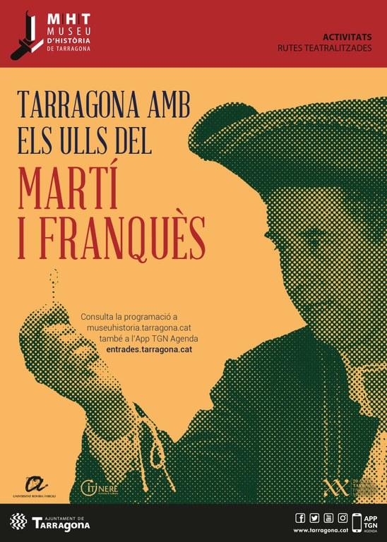 Patrimoni amplia l'activitat 'Tarragona amb els ulls de…' amb Antoni de Martí i Franquès