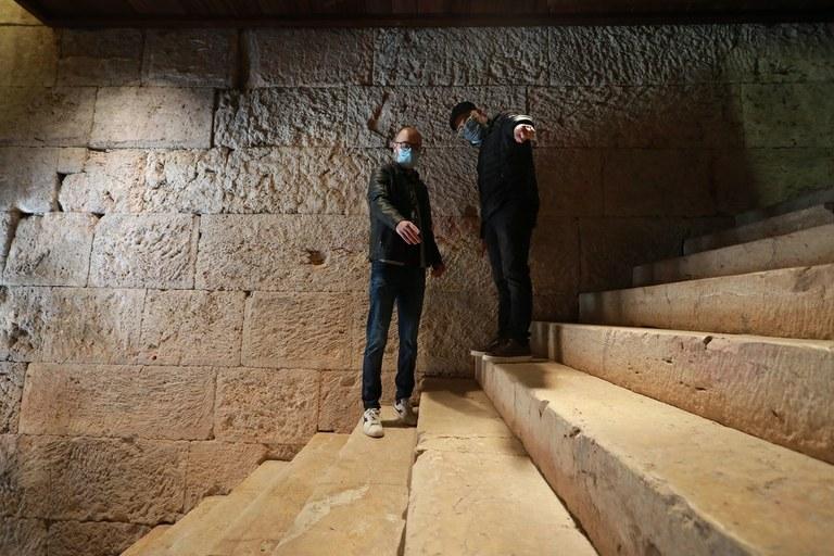 Patrimoni posa en valor una de les escales romanes millor conservades del món