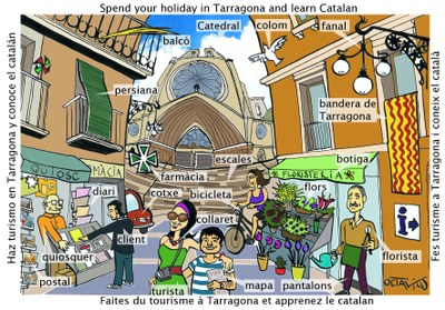 L'Ajuntament edita postals perquè els turistes coneguin el català