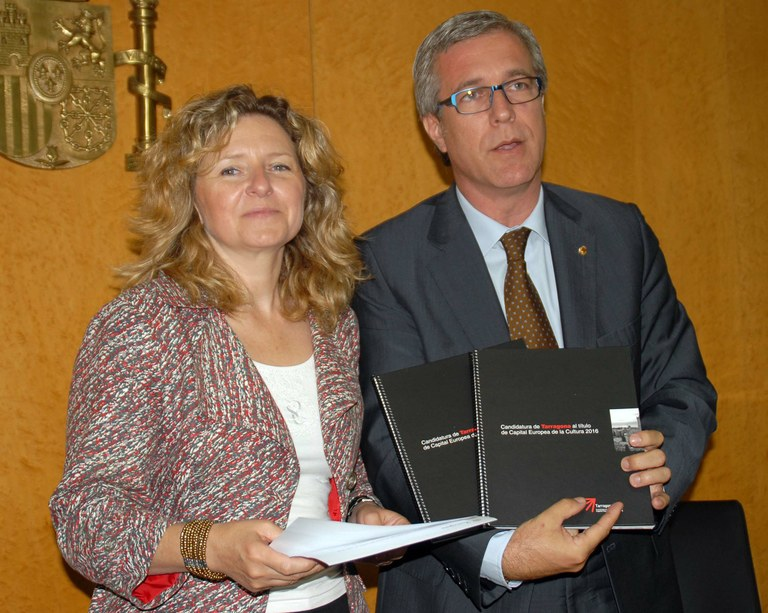 Lliurament del projecte de la candidatura de Tarragona a Capital Europea de la Cultura 2016