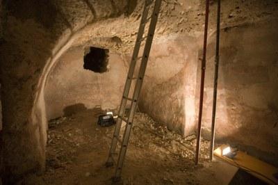Les excavacions de Ca l'Agapito deixen al descobert una volta d'entrada al fòrum