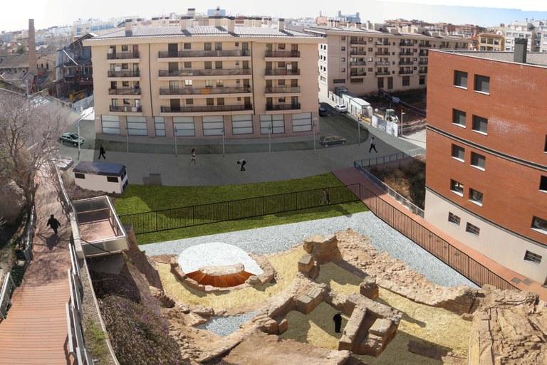Demà s'inaugura el projecte urbanístic i arqueològic dels Jardins del Vapor