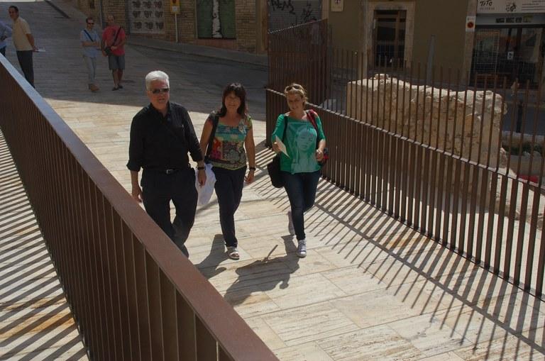 Finalitzen les obres d'arranjament del carrer Enrajolat i el seu entorn