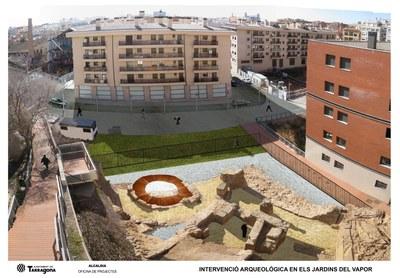 L'Ajuntament presenta el projecte urbanístic i arqueològic dels Jardins del Vapor