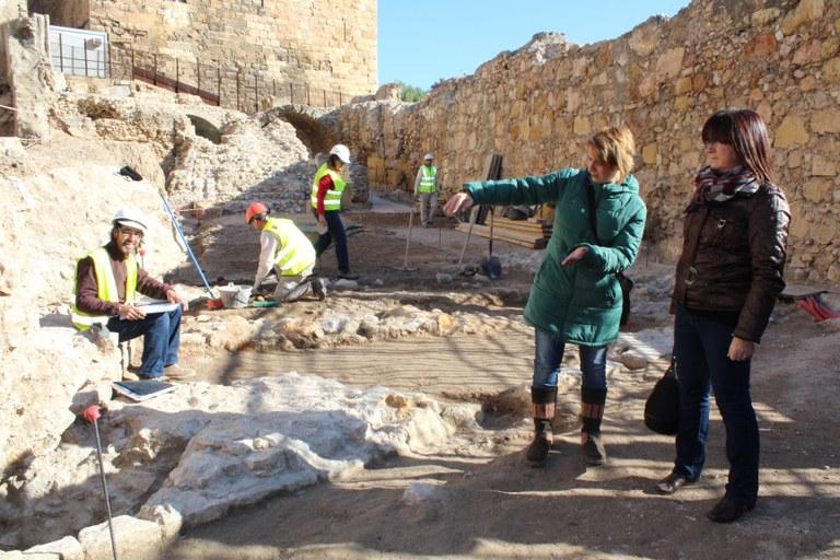 Es descobreix una nova porta a la zona del projecte d'adequació de la Porta Triomfal