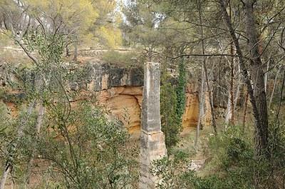 La pedrera romana del Mèdol tanca per obres de restauració