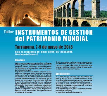 """Tarragona acollirà les Jornades """"Instruments de Gestió del Patrimoni Mundial"""""""
