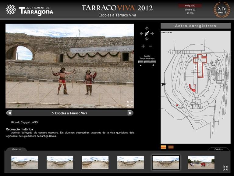 Tarragona virtual presenta els espais de Tarraco Viva en 360 graus