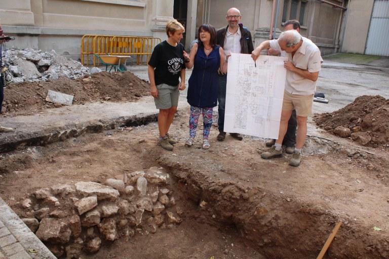 Intervenció arqueològica al sector de l'absis de la basílica paleocristiana de Sant Fructuós
