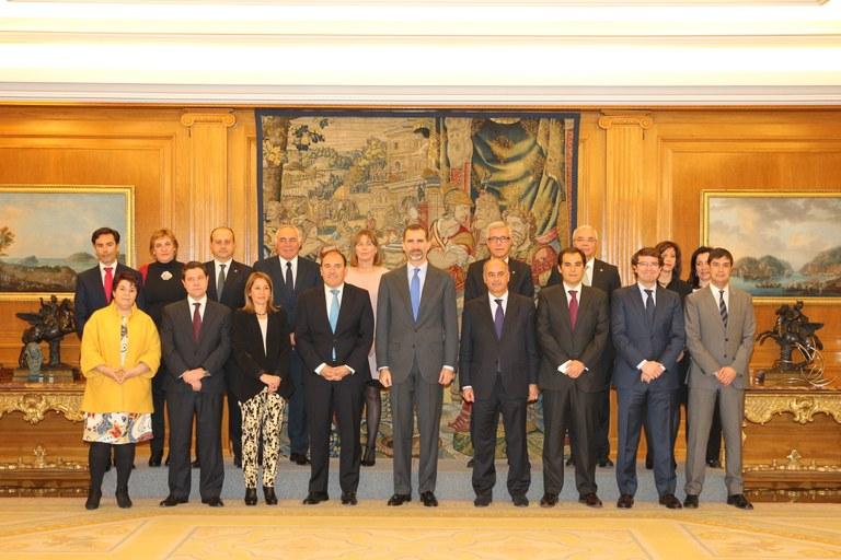 Audiència del rei Felip VI als alcaldes del Grup de Ciutats Patrimoni de la Humanitat