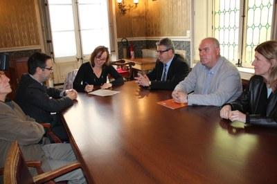 L'Ajuntament  i la Generalitat signen l'acta de replanteig de la muralla en el tram de la Baixada del Roser