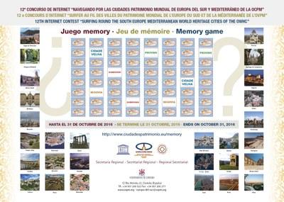 """Convocat el 12è Concurs d'Internet """"Navegant per les Ciutats Patrimoni Mundial d'Europa Sud / Mediterrània"""""""