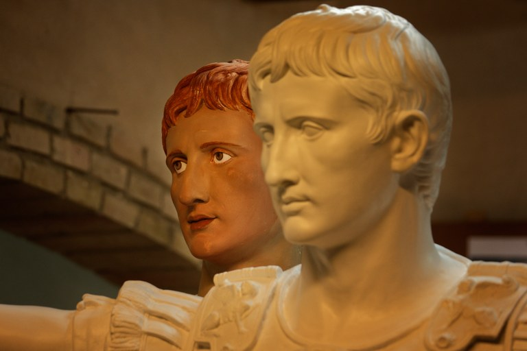 La policromia en època romana, a l'Espai Turisme