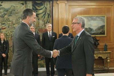 El rei Felip VI rep els alcaldes de les Ciutats Patrimoni de la Humanitat d'Espanya