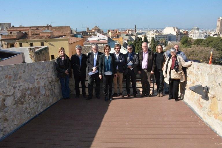 Finalitzen les obres de la Muralla romana al tram de la Baixada del Roser