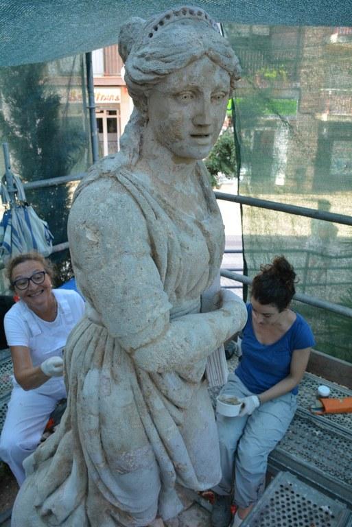 Iniciada la restauració de l'estàtua de la Constitució a Bonavista