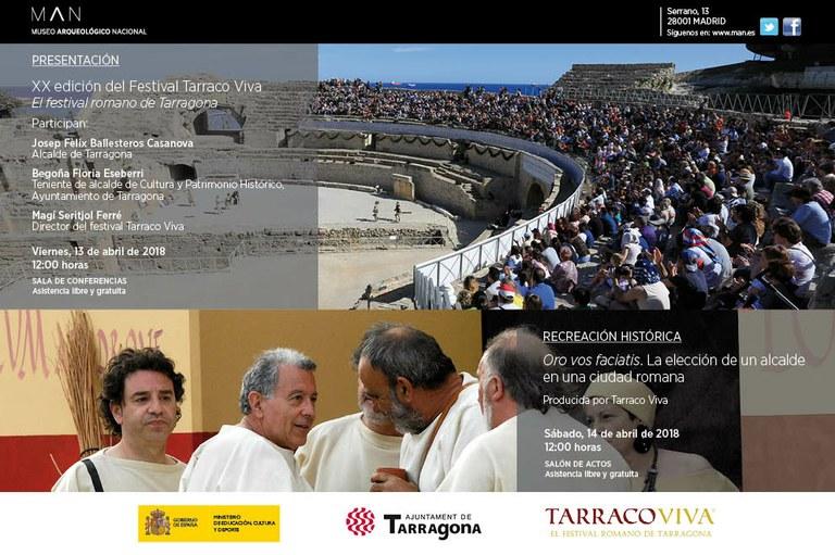 La XX edició del Festival Tarraco Viva es presenta al Museo Arqueológico Nacional de Madrid