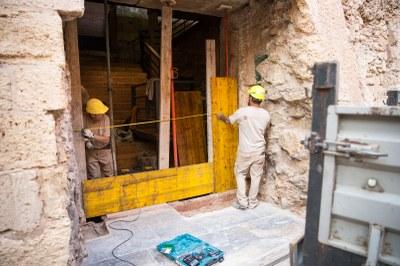Les escales romanes de l'Antiga Audiència seran visibles des del carrer Ferrers