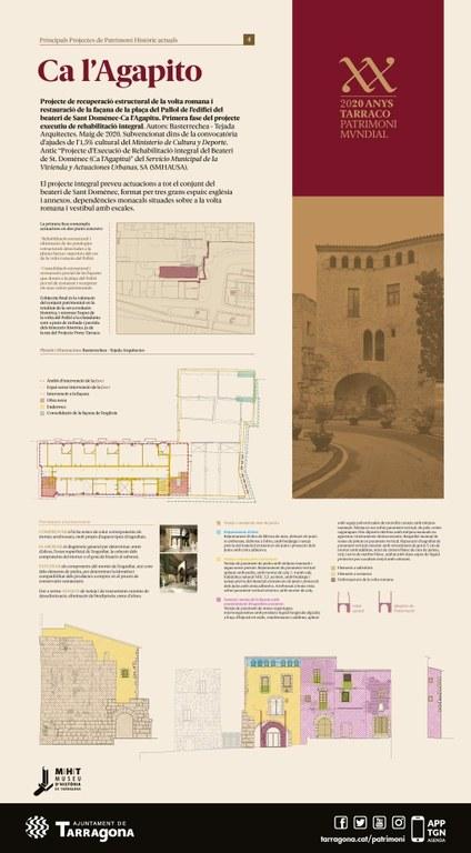 L'Ajuntament aprova l'inici d'obres de restauració de la volta del Pallol i de la façana de Ca l'Agapito
