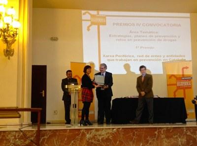 Tarragona rep el primer premi de bones pràctiques municipals pels plans de prevenció en l'àmbit de les drogues