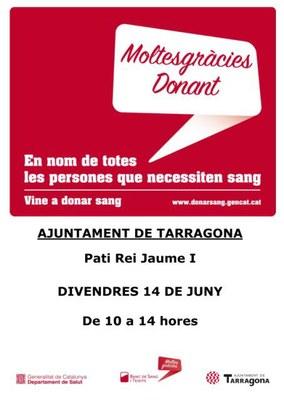 Divendres 14 de juny se celebra el Dia Mundial del Donant de Sang