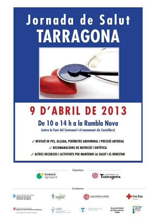 Tarragona celebrarà la Jornada de Salut el dia 9 d'abril a la Rambla Nova