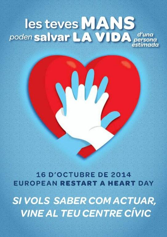 El 16 d'octubre tindrà lloc la II Jornada Europea de conscienciació de l'aturada cardíaca