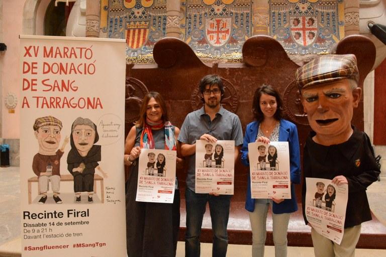 El Recinte Firal de Tarragona acull la  XV Marató de Donants de Sang