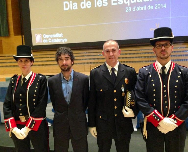 El sotsinspector de la Guàrdia Urbana de Tarragona guardonat en el dia de les Esquadres de la Generalitat