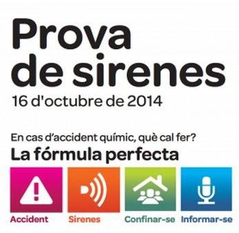 Prova de les sirenes de risc químic a Tarragona el dijous 16 d'octubre