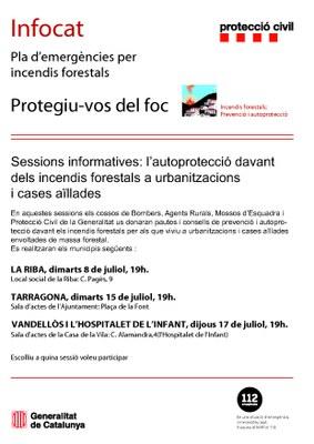 Sessió informativa i d'autoprotecció davant incendis forestals