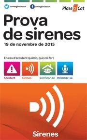 Prova de so a la xarxa general d'alarmes de Protecció Civil