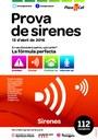 Prova de so de la xarxa general d'alarmes de Protecció Civil