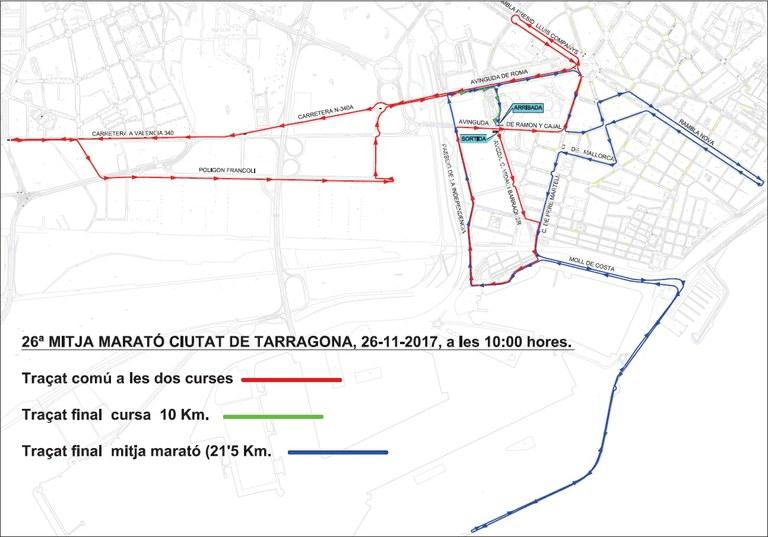 Dispositiu de la Guàrdia Urbana amb motiu de la Mitja Marató Ciutat de Tarragona