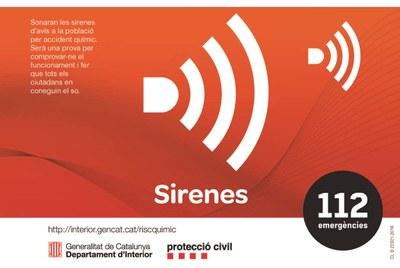 Demà 8 de novembre es farà una prova de sirenes