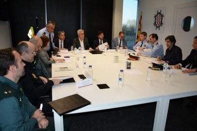 La Junta Local de Seguretat analitza el Pla Director de Seguretat amb motiu dels Jocs Mediterranis