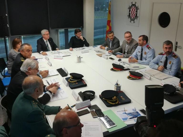 La Junta de seguretat analitza l'increment de vigilància a les instal·lacions dels Jocs Mediterranis