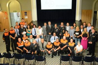 """L'alcalde Ricomà: """"La gent de Tarragona els aprecia i està tranquil·la quan veu els voluntaris de Protecció Civil"""""""