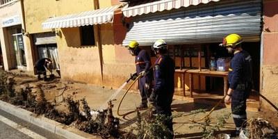 L'Associació de Voluntaris de Protecció Civil ha participat en les tasques de recerca i reparació després de la riuada
